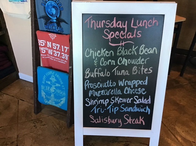 Thursday Lunch Specials February 13th, 2020