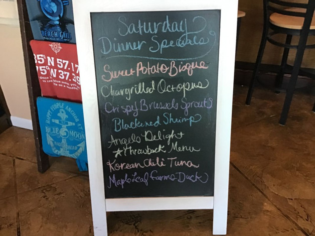 Saturday Dinner Specials February 15th,2020