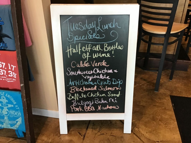 Tuesday Lunch Specials February 18th, 2020
