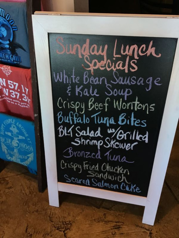 Sunday Lunch Specials February 23rd, 2020