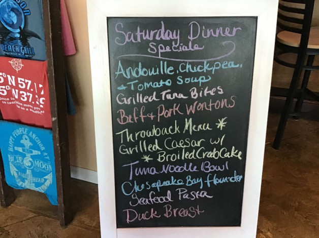 Saturday Dinner Specials February 29th, 2020