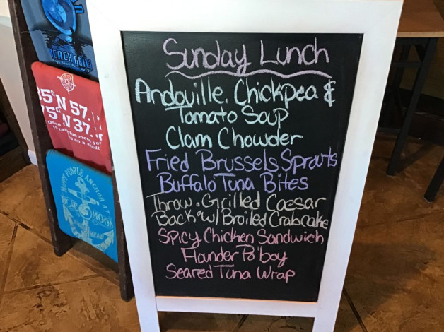 Sunday Lunch Specials- March 1st, 2020
