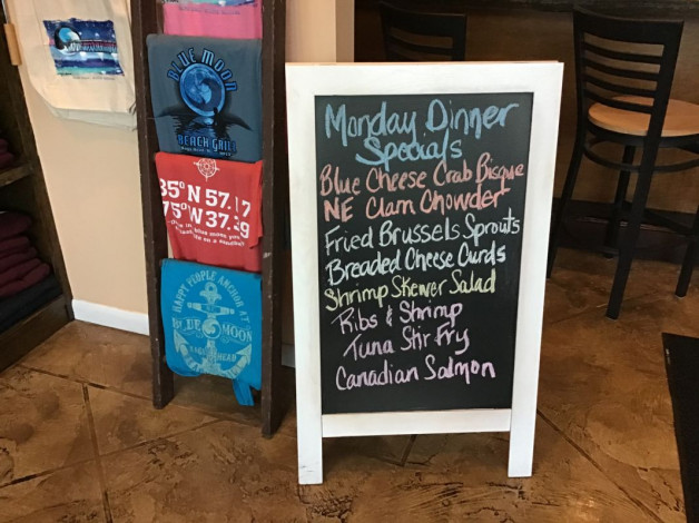 Monday Dinner Specials March 2nd, 2020