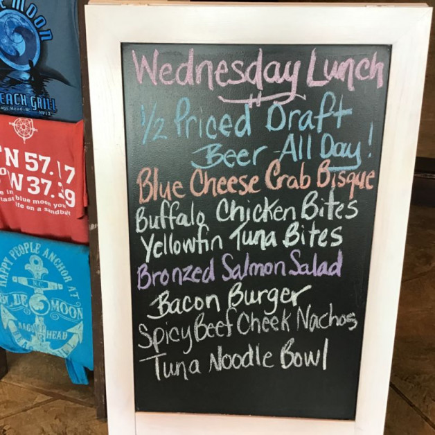 Wednesday Lunch Specials March 4th, 2020