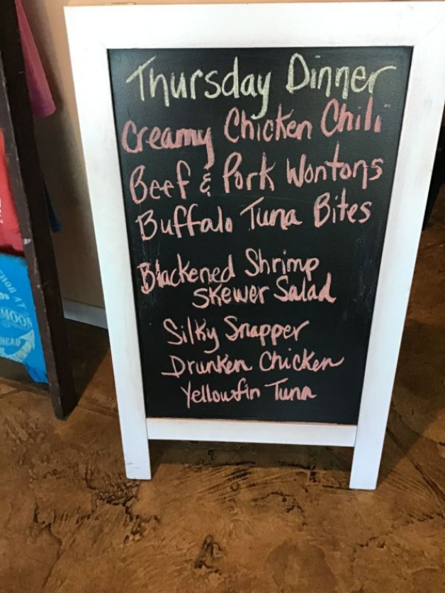 Thursday Dinner Specials- March 12th,2020