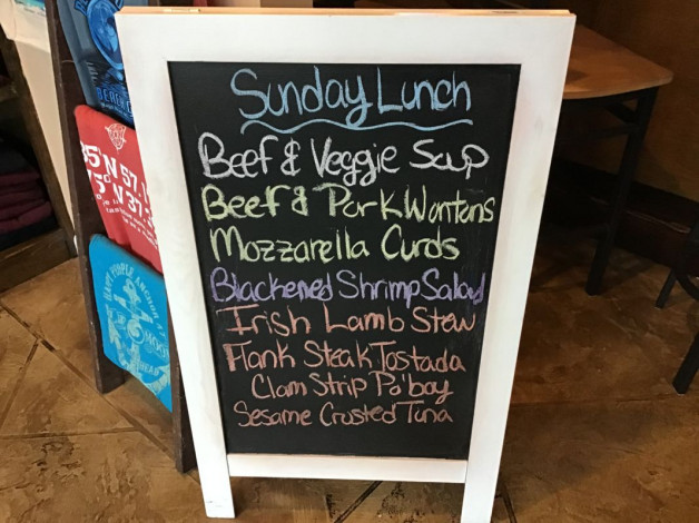 Sunday Lunch Specials- March 15th, 2020