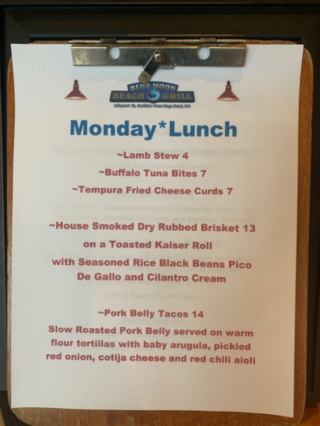 Monday, March 23, 2020 Lunch Specials – 20% OFF All Curbside Take-Out, Bottled Beer & Wine Included!