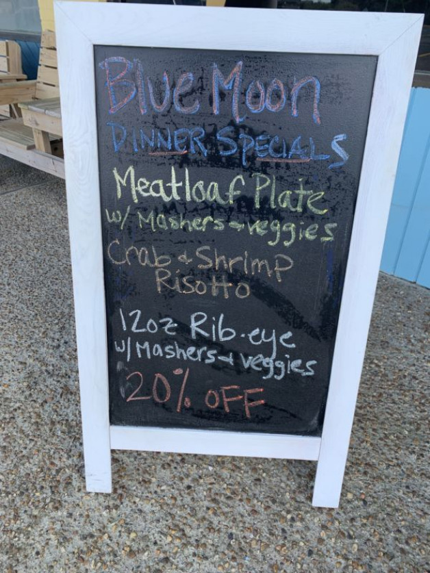 Monday Dinner Specials, March 30. 2020