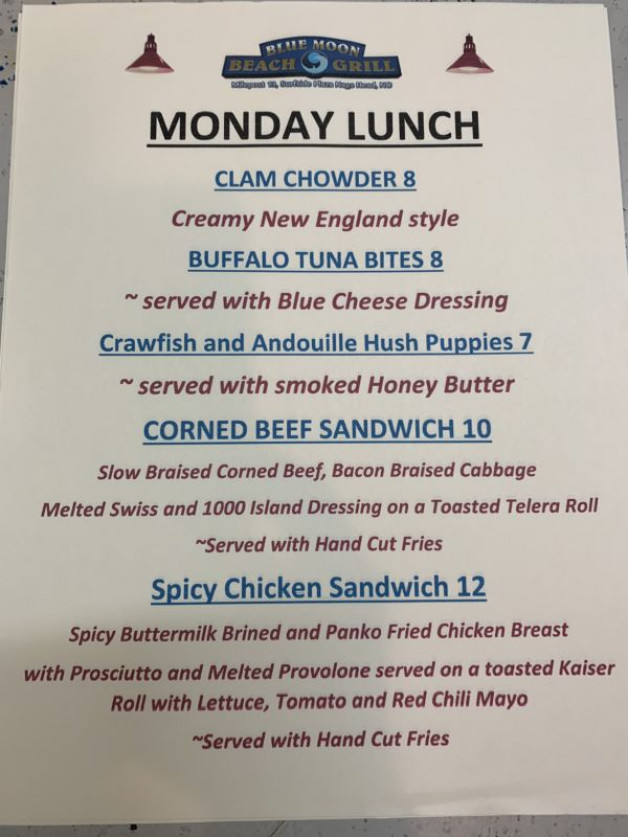 Monday Lunch Specials