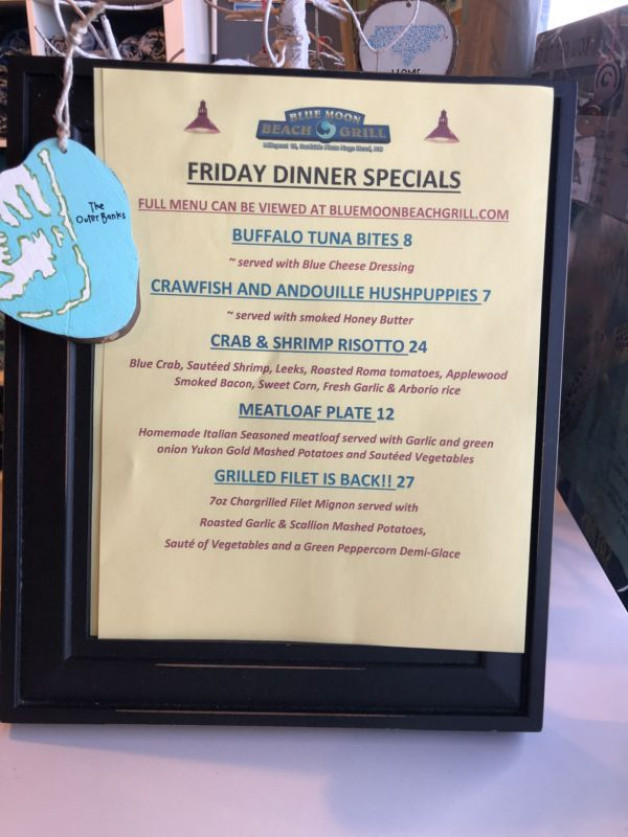 Good Friday Dinner Specials 4/10/20