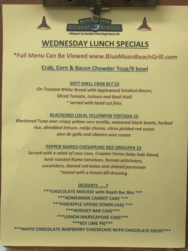 WEDNESDAY LUNCH