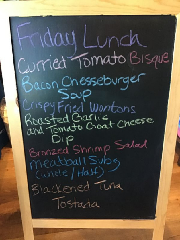 Friday Lunch Specials June 26th, 2020