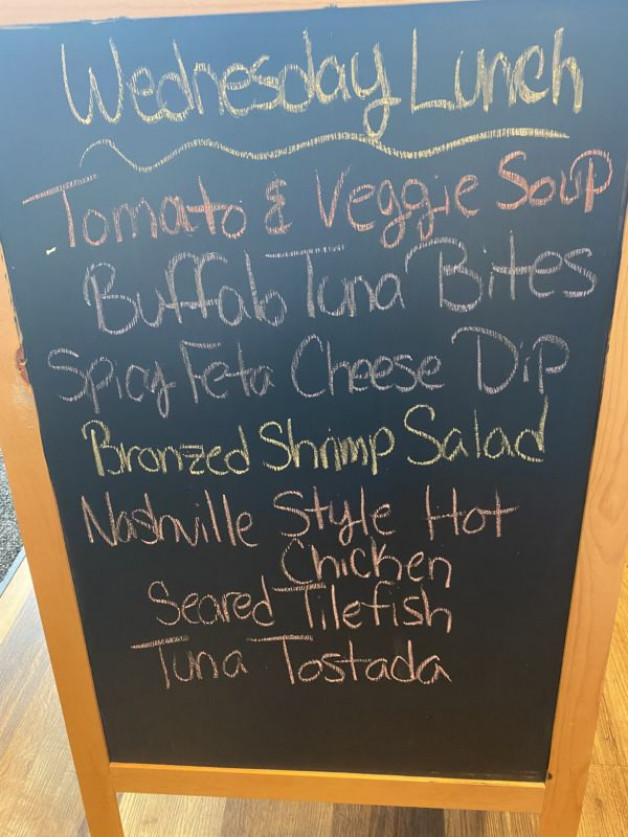 Wednesday Lunch Specials July 9th 2020