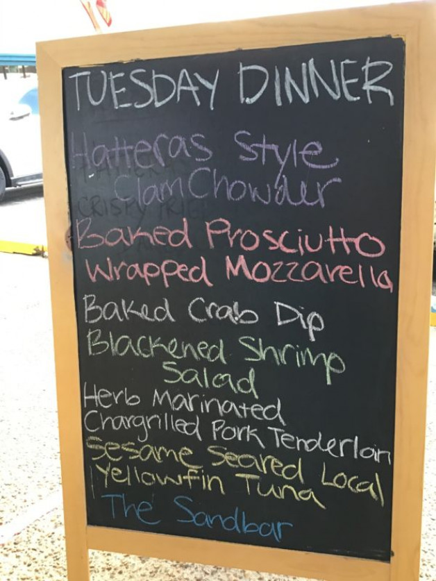 Tuesday Dinner Specials July 14th