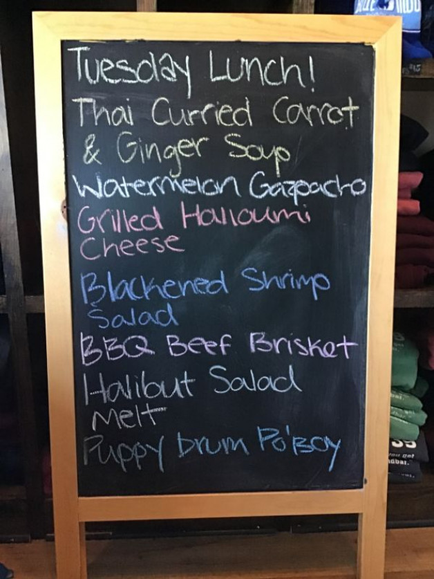 Tuesday Lunch Specials, July 21