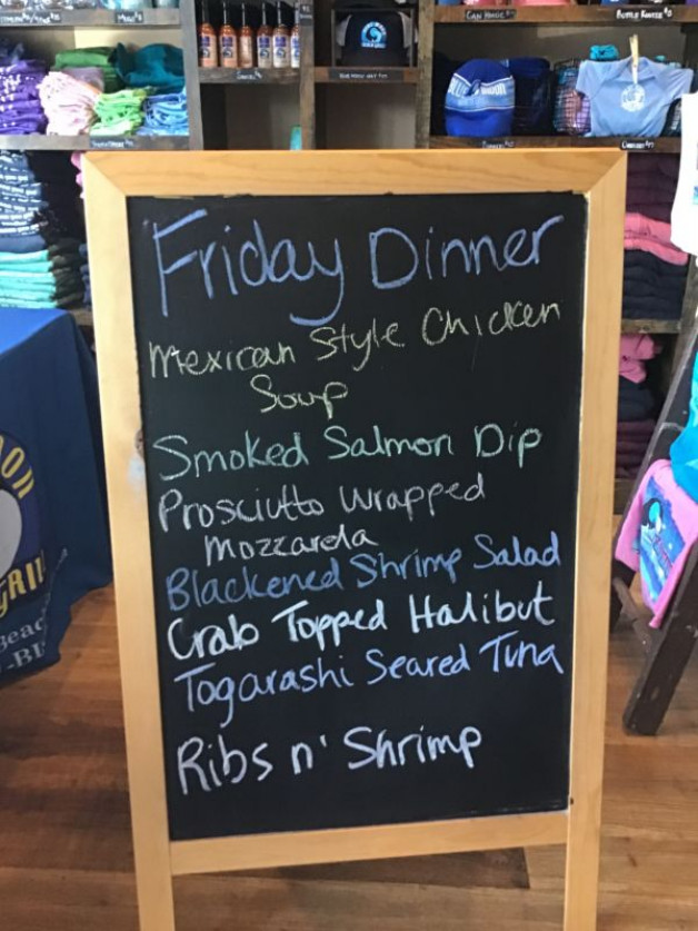 Friday Dinner Specials, July 31