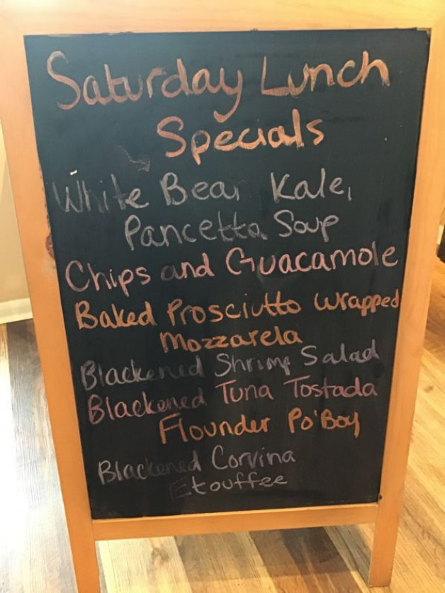 Saturday Lunch Specials October 3rd, 2020