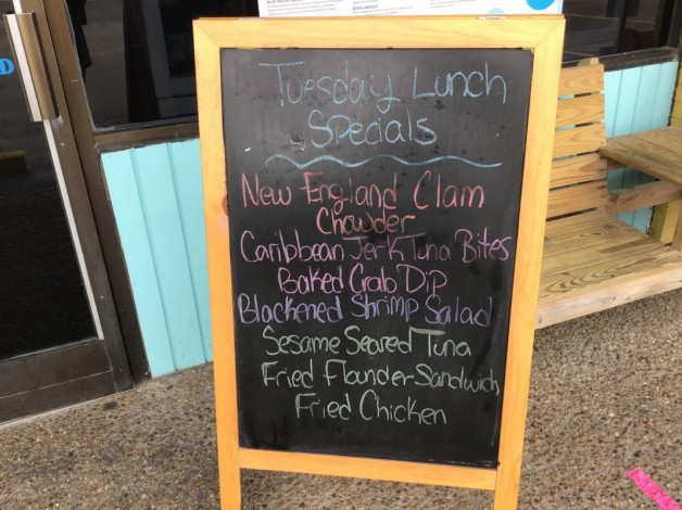 Tuesday Lunch Specials October 13th,2020