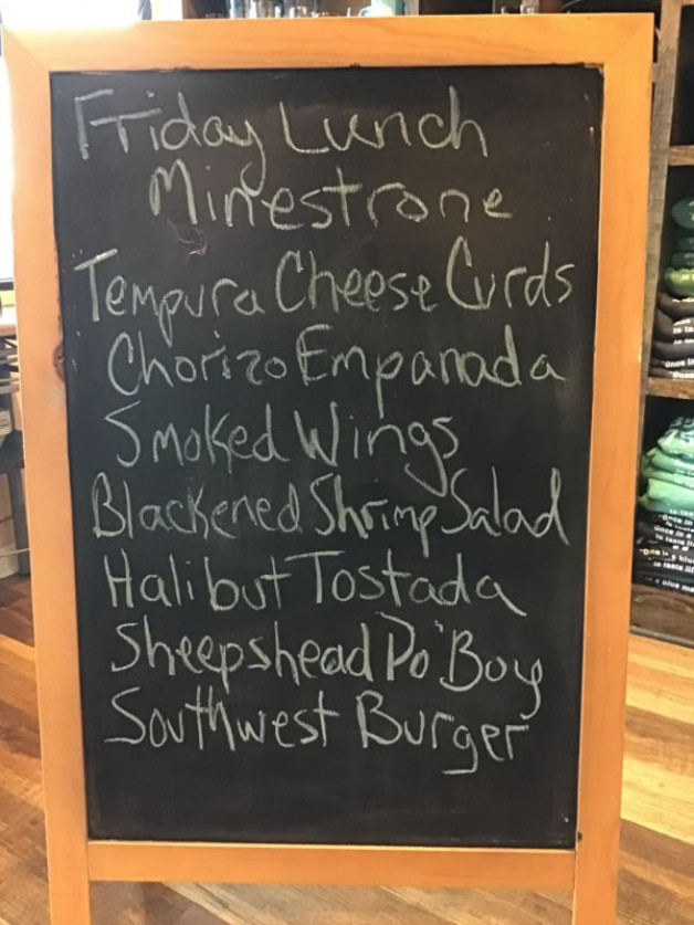 Friday Lunch Specials, October 30th