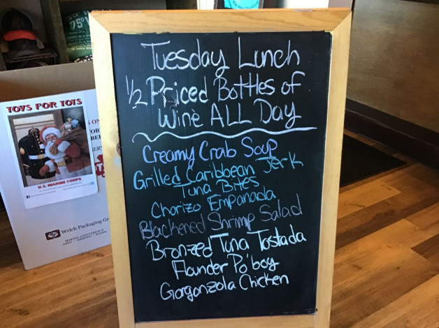 Tuesday Lunch Specials November 3rd 2020