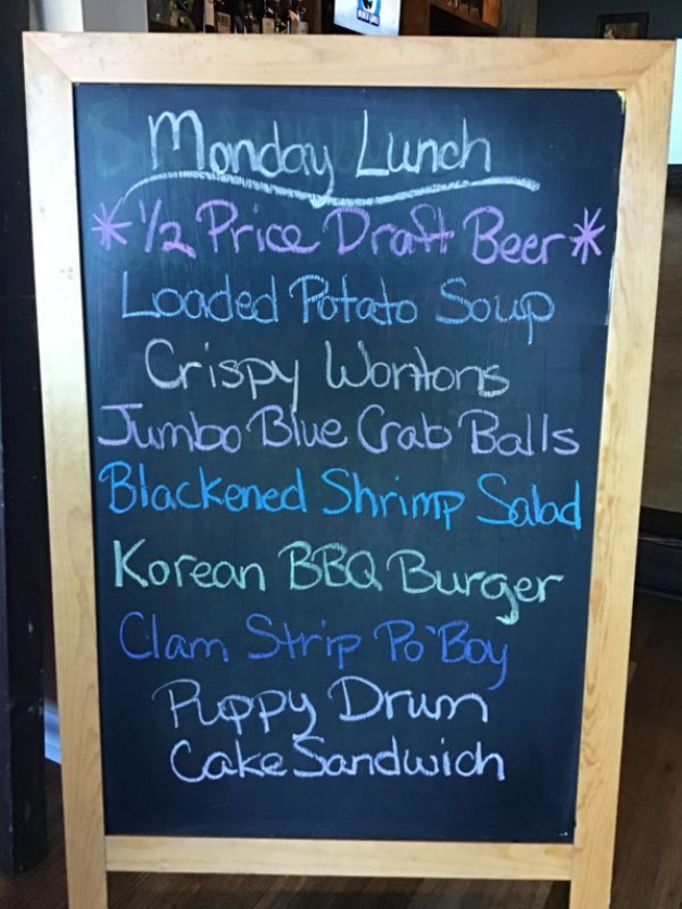 Monday Lunch Specials, November 16th
