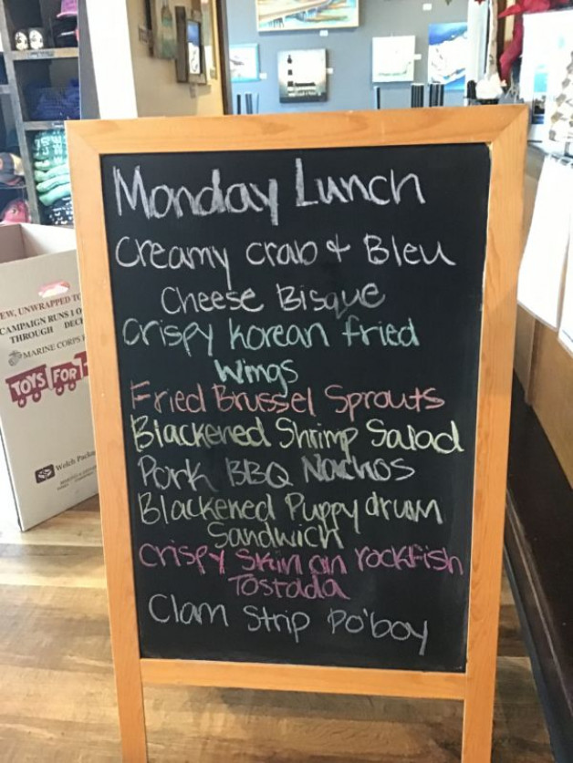 Monday Lunch Specials November 30, 2020