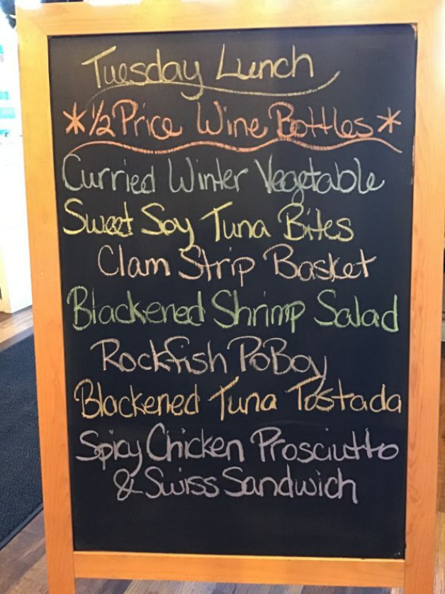 Tuesday Lunch Specials, December 29th