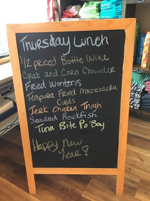 Thursday Lunch Specials December 31st, 2020