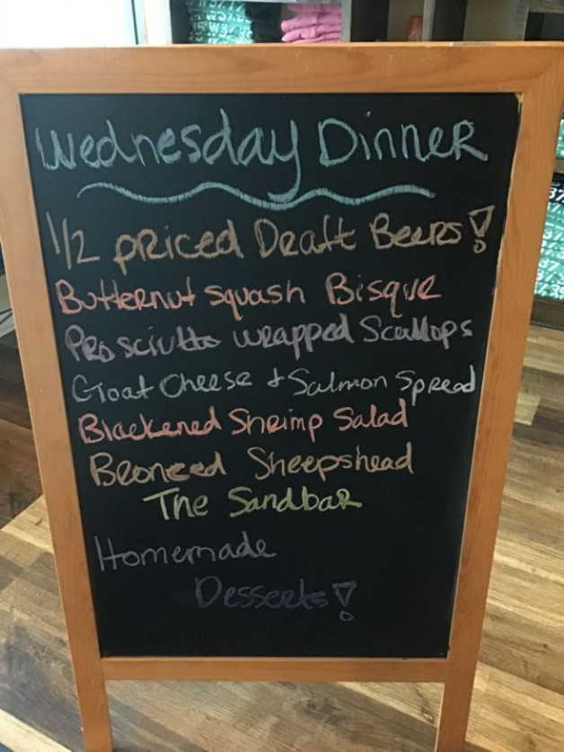 Wednesday Dinner Specials January 27th, 2021