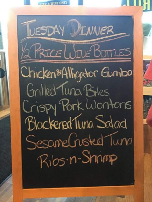 Tuesday Dinner Specials, February 23rd