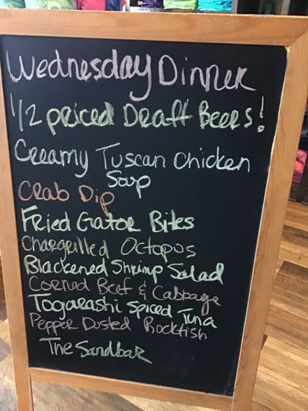 Wednesday Dinner Specials March 17th, 2021