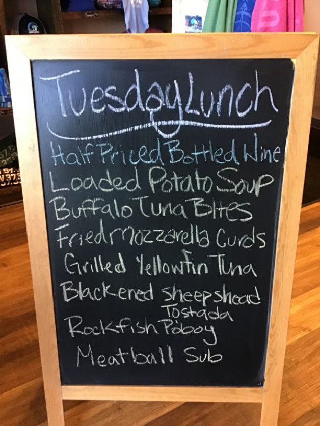 Tuesday Lunch Specials March 30th, 2021