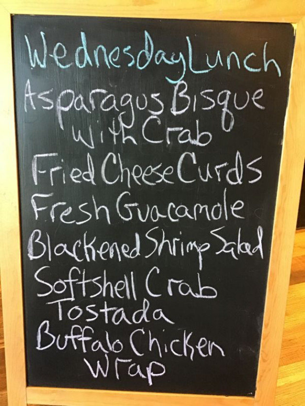 Wednesday Lunch Specials May 5th