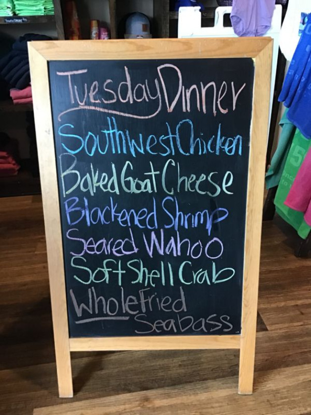 Tuesday Dinner Specials May 11th 2021