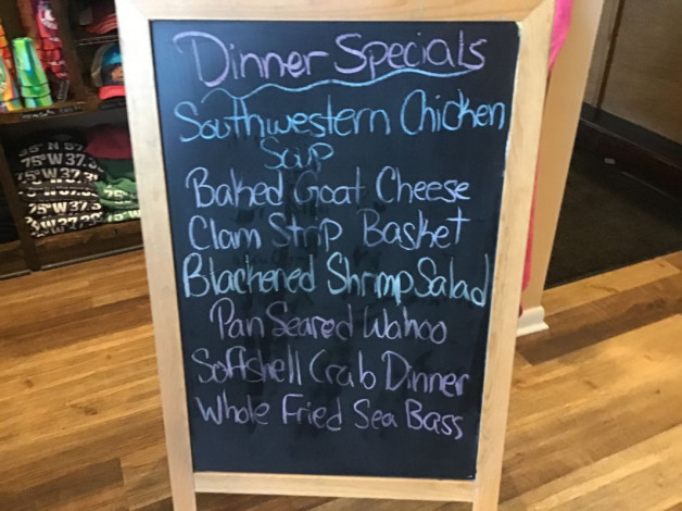 Wednesday Dinner Specials May 12th,2021
