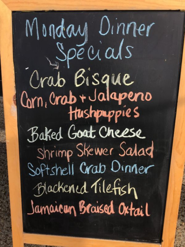 Dinner Specials Monday May 17th