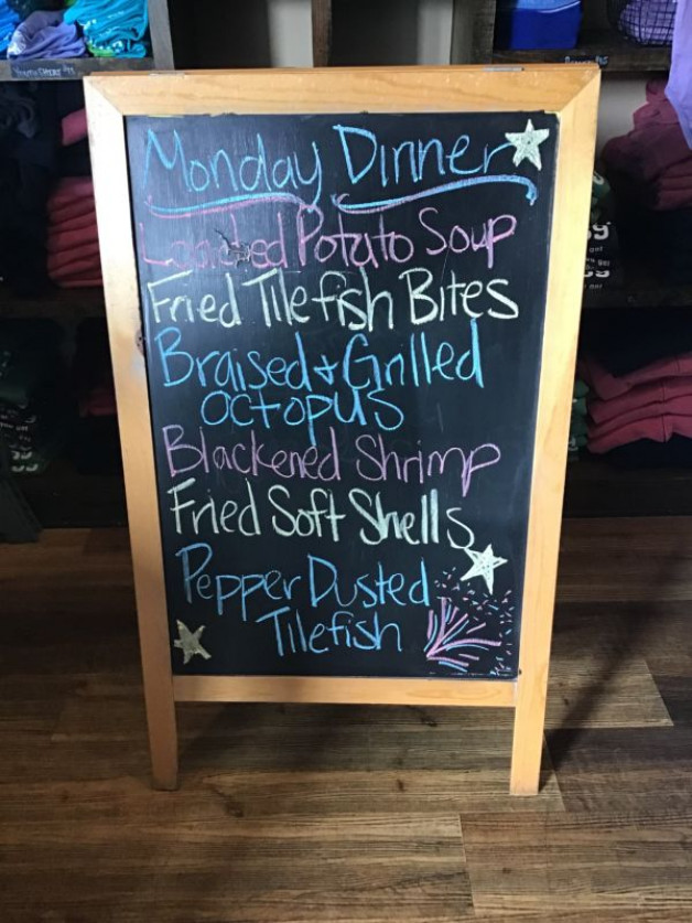 Monday dinner Specials May 31st 2021