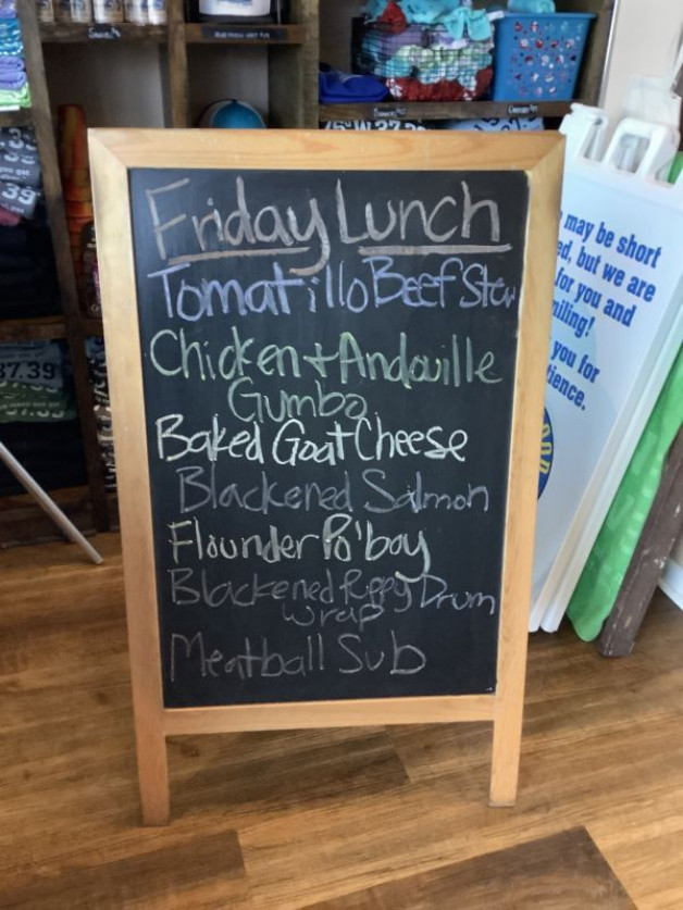 Lunch specials Friday September 17th, 2021
