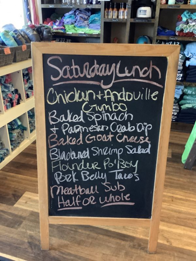 Lunch specials Saturday September 8th, 2021