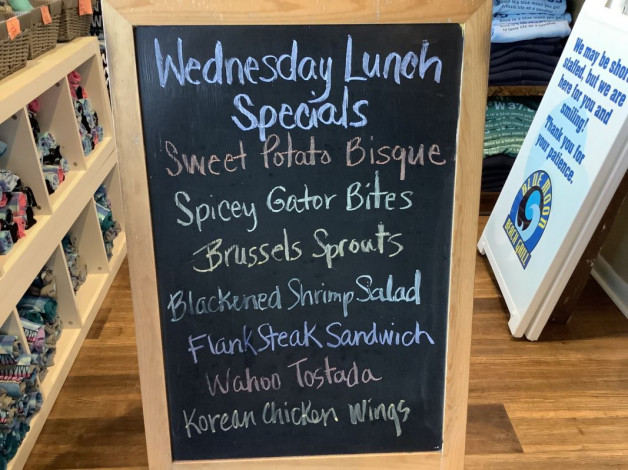 Wednesday Lunch Specials September 22nd, 2021