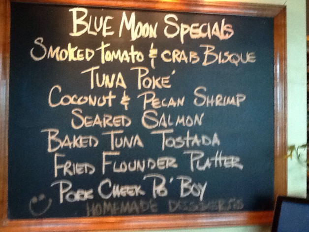 BLUE MOON LUNCH SPECIALS for November 3 ,2015