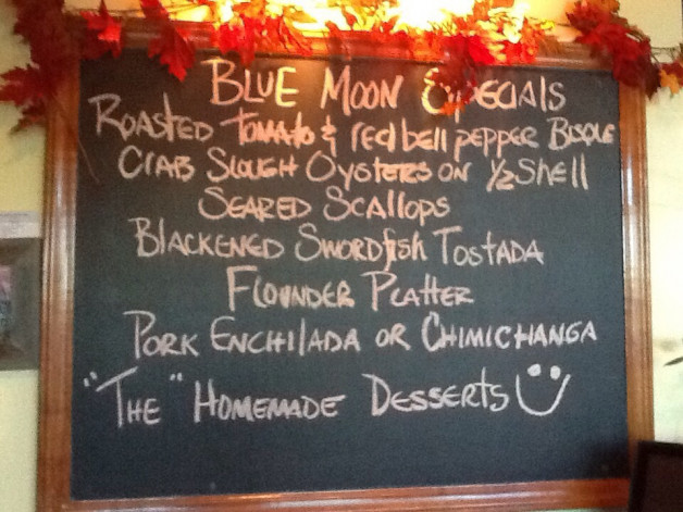 BLUE MOON LUNCH SPECIALS for November 14, 2015