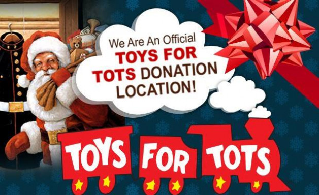 Toys for Tots! Bring a toy and receive 20% off entrée!