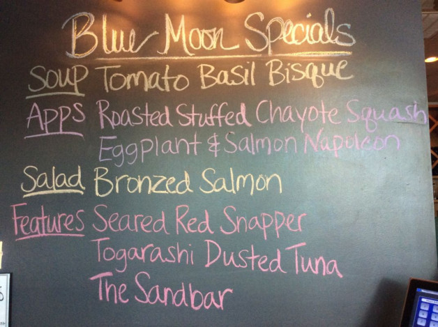 Friday Dinner Specials – April 28th 2017