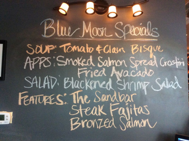 Wednesday Dinner Specials- May 24th, 2017