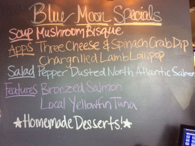 Tuesday Dinner Specials – June 13th 2017