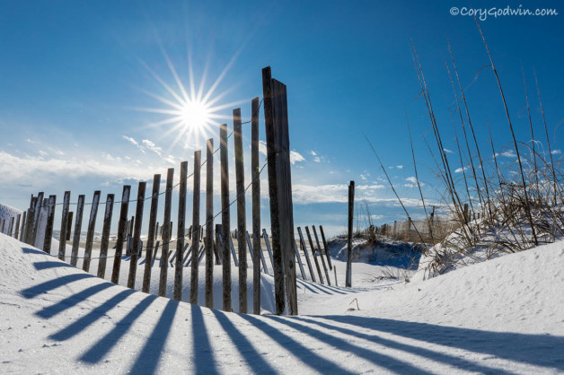 "Closed today, January 18.  ""Once in a blue moon"" the OBX gets 6-8″ of snow!"