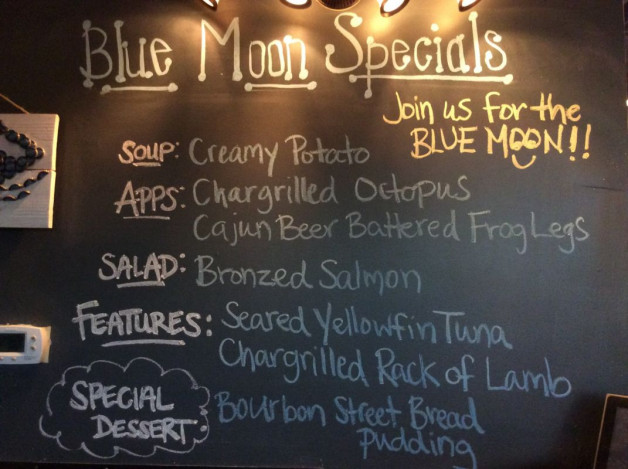 Wednesday Dinner Specials——January 31st, 2018
