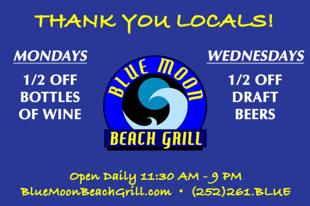 "We say ""thank you"" with 1/2 off beer and wine!  Cheers!"