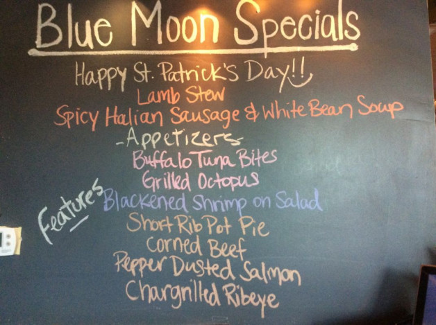 Saturday Dinner Specials – March 17th 2018